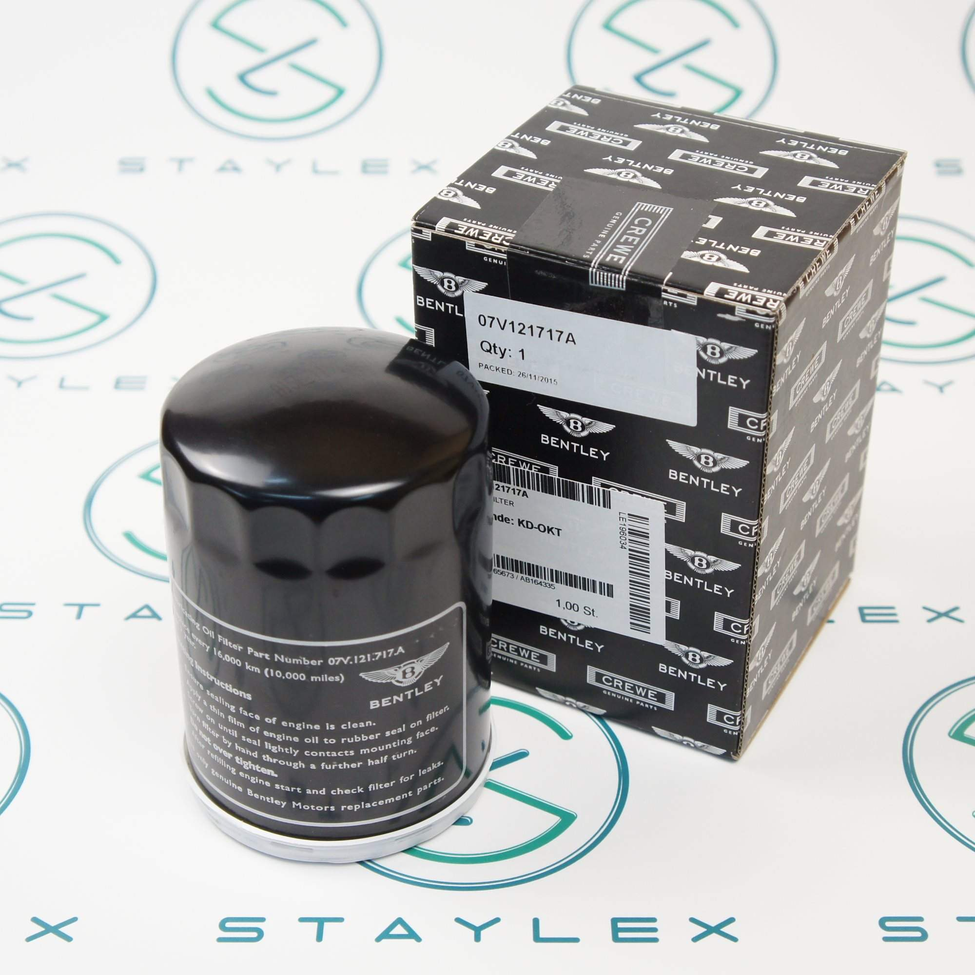 Oil filter Bentley Mulsanne (07V121717A)